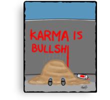 Karma Cartoon Canvas Print