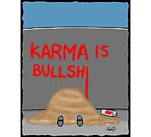Karma Cartoon Photographic Print