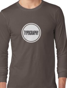 Vintage Typography T-Shirt Long Sleeve T-Shirt