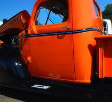 1941 Orange Chevy  by Mattie Bryant
