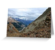 View From the Wilcox Pass Hiking Trail Greeting Card