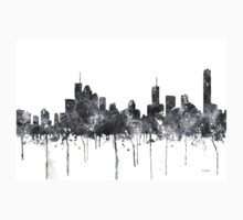 Brisbane, Queensland Skyline - B&W Kids Tee