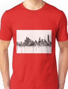 Brisbane, Queensland Skyline - B&W Unisex T-Shirt