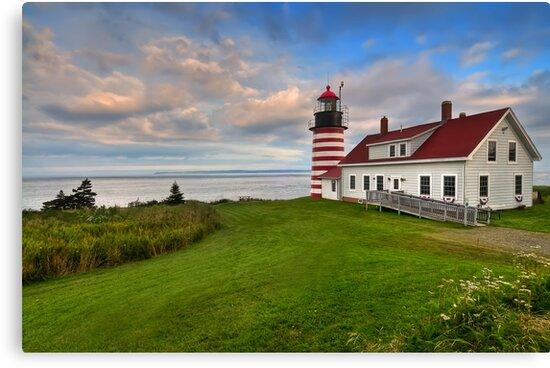 West Quoddy Light - Maine by JHRphotoART
