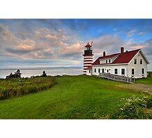 West Quoddy Light - Maine Photographic Print