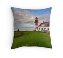 West Quoddy Light - Maine Throw Pillow