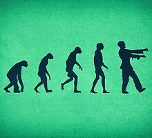 Evolution of Zombies (Zombie Walking Dead) by badbugs