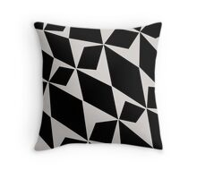 Black & White Pedals Throw Pillow