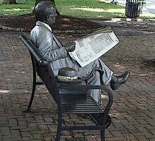 Newspaper Reader by vigor