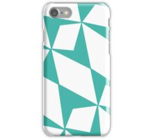 White Turquoise Pedals iPhone Case/Skin