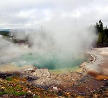 Yellowstone Geyser by mlgphotography