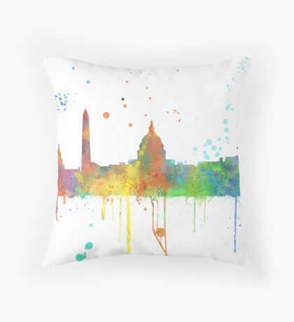 Washington, DC Skyline  Throw Pillow