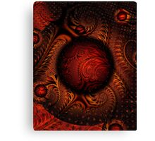 Tweak1 5 PONG 4-Golden Pong Brocade-wolfepaw + Parameter Canvas Print