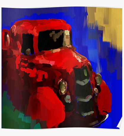 The old red truck Poster