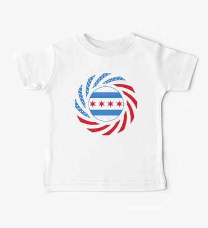 Chicago Murican Patriot Flag Series Baby Tee