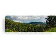 Blue Ridge Parkway Panoramic Canvas Print