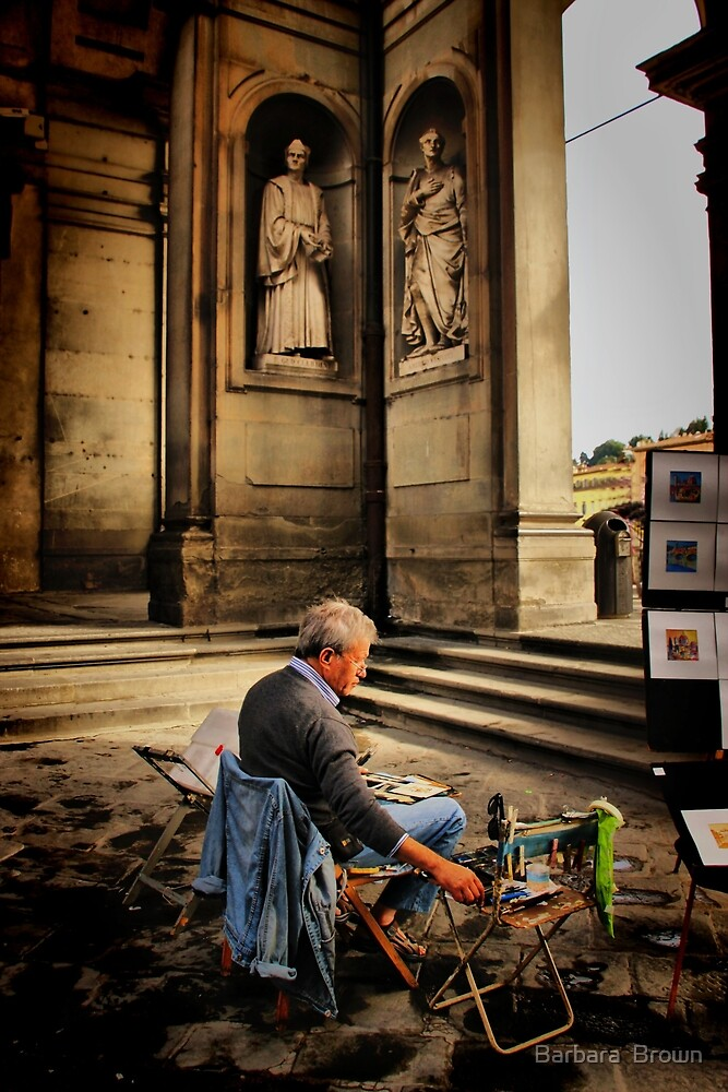 Artist of Firenze by Barbara  Brown