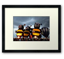 Bumble Bees Glowing Framed Print