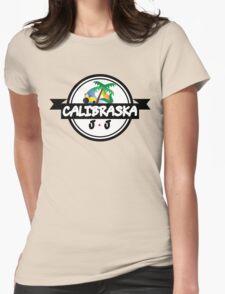 Calibraska Black Logo Womens Fitted T-Shirt