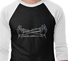 Cat's Cradle (on black) Men's Baseball ¾ T-Shirt