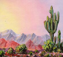 A Desert Scene -  by James Lewis Hamilton