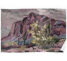 A Desert Scene, too - oil paint Poster