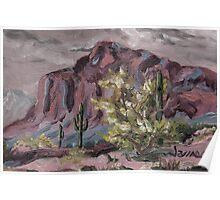 A Desert Scene, too - oil paint Poster