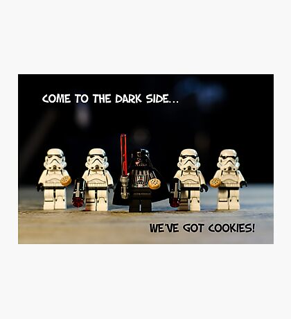 Dark Side Cookies Photographic Print