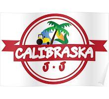 Calibraska Red Logo Poster