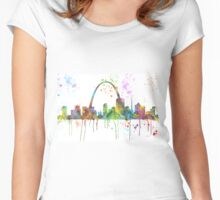 St Louis, Missouri Skyline  Women's Fitted Scoop T-Shirt