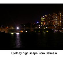 Sydney at night by BigAndRed