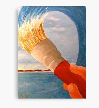 Brush n' Beach Canvas Print