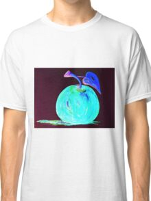 Abstract Blue And Teal Apple Classic T-Shirt