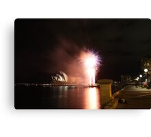 Sydney @ night Canvas Print