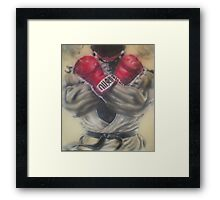 "airbrush ""Ryu"" Artwork Framed Print"