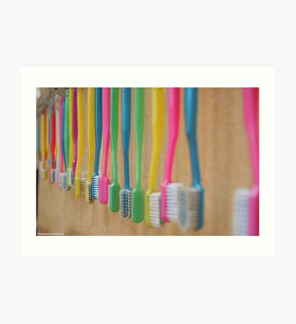 Toothbrush anyone? Art Print