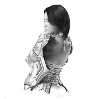 """Pencil Drawing """"My Geisha"""" by Dave Castle"""