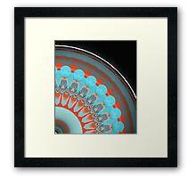 Coral Teal Summer Fan  Framed Print