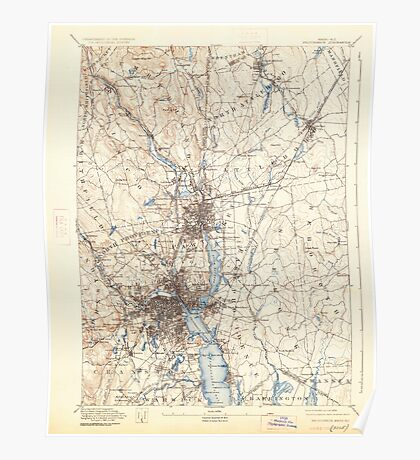 Massachusetts  USGS Historical Topo Map MA Providence 352976 1894 62500 Poster