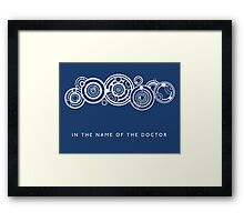 In the Name of the Doctor Framed Print