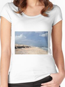 Abandon Beach Women's Fitted Scoop T-Shirt