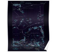 Massachusetts  USGS Historical Topo Map MA Hull 351809 1946 31680 Inverted Poster
