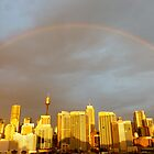 rainbow over Sydney by SUBI