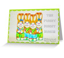 Funny Bunny Bunch Happy Easter Greeting Card