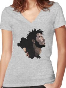 capital steez Women's Fitted V-Neck T-Shirt