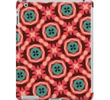 Geometric Pattern Coral Teal Button  iPad Case/Skin