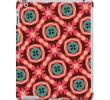 Geometric Pattern Coral Teal Button  iPad Case/Skin