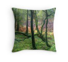 The Encircling Wood Throw Pillow