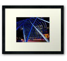 Vivid Blue Arch Framed Print