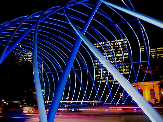 Vivid Blue Arch by Michael John
